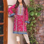 MTF Embroidered Printed Lawn Kurti d-4a