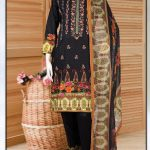 Malhaar Embroidery Collection d-04 Lawn 3pc Suit
