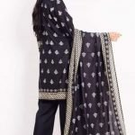 Rang Reza B&W d-01 3pc Lawn Suit